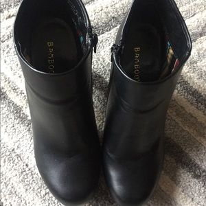 Bamboo Faux Leather Ankle Boots